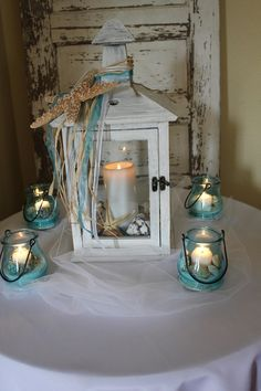 beach wedding centerpieces reception decorations wedding-ideas