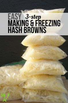 How to Make and Freeze Hash Browns - Prepare & Nourish How to Make and Freeze Hash Browns -Find out just how easy it is to make and freeze hash browns that are free from other starches and nasty oils. Naturally Paleo and Freezer Potatoes, Can You Freeze Potatoes, Canning Potatoes, Frozen Hashbrowns, Whole30, Real Food Recipes, Healthy Recipes, Food Tips, Food Hacks