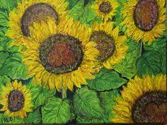 GALERIA PALOMO MARIA LUISA: GIRASOLES...... Painting, Art, Sunflowers, Painted Flowers, Canvases, Art Background, Painting Art, Kunst, Paintings