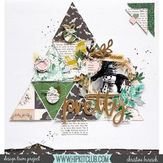 Romantic Scrapbook How To Start Christmas Scrapbook Layouts, Scrapbook Page Layouts, Scrapbook Paper Crafts, Christmas Layout, Photo Layouts, Scrapbook Journal, Scrapbook Albums, Scrapbook Supplies, Scrapbooking Ideas