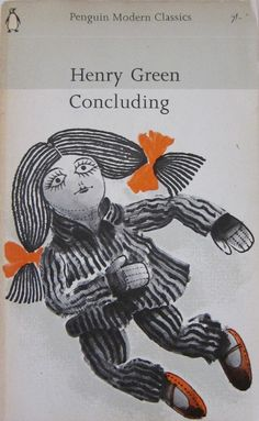 """Concluding"" by Henry Green. Cover illustration by David Gentleman"