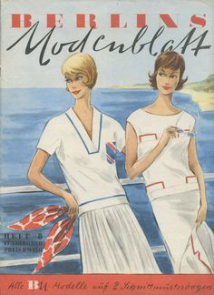 Heft 8 aus dem Jahr 1961 Vintage Schnittmuster - BERLINS Modenblatt - ein Designerstück von nierentisch bei DaWanda