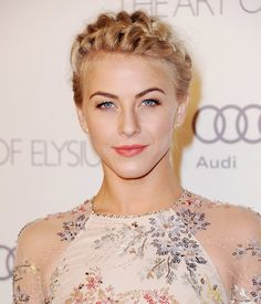 Julianne Hough Proves How Versatile a Bob Can Be: At the 2012 CFDA Fashion Awards, Julianne opted for a high-volume, piecey updo. : Julianne opted for a braided headband style at the Art of Elysiums 6th Annual Heaven Gala.