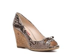 Prada Reptile Leather Wedge Pump | Made in Italy