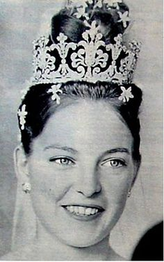 Princess Diane of Orleans, Duchess of Württemberg.  Literally over the top.  Well, it was 1960, so I'm sure it didn't look quite as extreme at the time.  A very pretty bride, however, now married over 50 years.