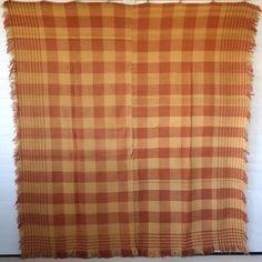 Antique-Coverlet-c-1840-POINT-WORK-Twill-Weave-PA-German-Geometric-BITTERSWEET