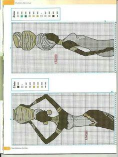 élégantes 6/11 Crotchet Stitches, Embroidery Stitches, Hand Embroidery, Cross Stitch Charts, Cross Stitch Designs, Cross Stitch Patterns, Everything Cross Stitch, African Artwork, Butterfly Cross Stitch