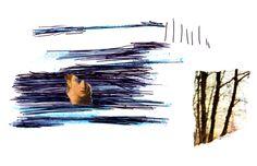 Epifanías, Thinking Blue, 05 [2006]. Técnica mixta. © Christian Núñez