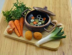 Homemade Vegetable Soup   1/12 Dollhouse Scale by shayaaron, $33.00