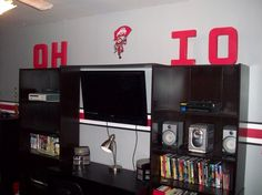Ohio State Rooms | Ohio State Room, THis is the Ohio State room I did for my…