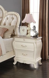 Meridian Furniture Marquee Pearl White Night Stand
