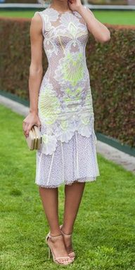 cb12c8ac1d8e neon and lace  unexpected combo! Neon Dresses