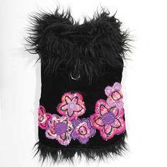 Abrigo para perritas Aretha Flower, talla M