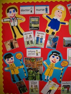 People Who Help Display, Classroom Display, class display, people who help us… Class Displays, School Displays, Classroom Displays, Early Years Displays, Teaching Displays, Classroom Organization, Eyfs Activities, Creative Activities, Nursery Display Boards