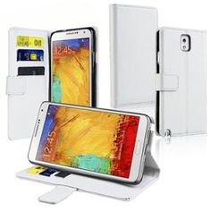 INSTEN WHITE LEATHER WALLET CASE FOR SAMSUNG GALAXY NOTE 3 N9000