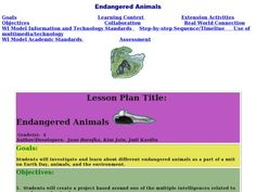 Endangered Animals Lesson Plan | Lesson Planet