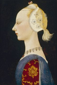 Paolo Uccello | A Young Lady of Fashion | Isabella Stewart Gardner Museum | Oil On Wood - early 1460s #painting