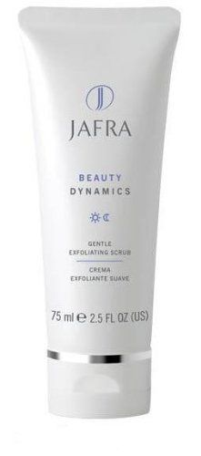 Jafra Beauty Dynamics Gentle Exoliating Scrub 2.5 fl. oz. by Jafra. $8.65. A smooth cream with tiny microspheres that glide onto the surface of your skin to gently slough away dull, dry skin and cleanse clogged pores for a healthy, glowing, polished appearance.