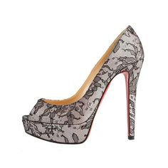 Christian Louboutin lace peep-toe pump. Such a timeless pair of heels...