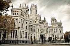 Palacio de Cibeles en Madrid, España
