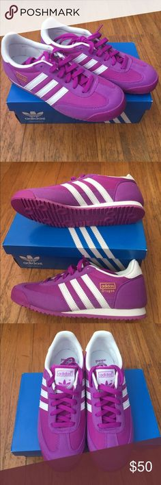the best attitude bed87 c3f67 Adidas Dragon J Beautiful, Violet Adidas originals Dragon J shoes. Online  says kids sneaker, but it fits me and I m a shoe size in Women.