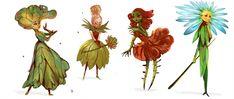 Floral fairies by telthona on DeviantArt Mythical Creatures Art, Magical Creatures, Fantasy Creatures, Arte Sketchbook, Creature Concept, Fairy Art, Monster, Creature Design, Character Design Inspiration