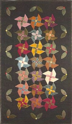 Primitive Folk Art Wool Applique Pattern  by PrimFolkArtShop,
