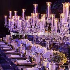 tall wedding clear 9 arms crystal candelabrum/crystal centerpiece candelabras wholesale