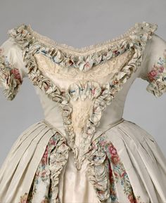 Ephemeral Elegance | Spitafields Silk Evening Dress, 1851 Owned by...