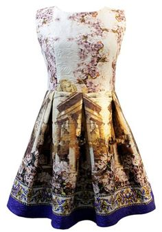 Sheinside White Contrast Blue Sleeveless Vintage Floral Dress (M, White) Sheinside http://www.amazon.com/gp/product/B00HNLVQM0/ref=as_li_tl?ie=UTF8&camp=1789&creative=390957&creativeASIN=B00HNLVQM0&linkCode=as2&tag=moda3110-20&linkId=SCUDIPGWUWTRWTTC