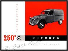 Citroen Vintage 2CV Truck Print - The 1959 Citroen Fourgonnette - The Beloved Deux Chevaux Vintage European Commercial Runabout