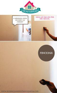 Dicas Rápidas #1: Como limpar riscos na parede