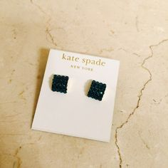 Kate Spade Emerald Glitzy Earrings Brand new never worn. Bought for an event and never wore, not my style anymore really. kate spade Jewelry Earrings