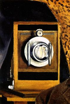 1951 Frida Kahlo Portrait de mon père, Détail l'appareil photo, Portrait of my father, Detail the camera. #Art #Mexico #deFharo