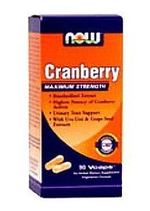 NOW Foods Cranberry, 90 Vegetarian Capsules (Pack of 2) by Now Foods. $22.24. Vegetarian/Vegan. Contains  included 300 mg of Uva-Ursi Extract and 45 mg of Grape Seed Extract. Each serving delivers 1000 mg of Cranberry. Supports healthy urinary tract function. Cranberry, found in Now Foods Cranberry Extract Maxium Strength has become an essential component in the promotion of sound urinary tract health. Maximum Strength Standardized Cranberry Extract from Now Foods is ...