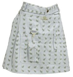 Women's Athletic Skorts - Garden Girl USA Gardening Skort 12Inch Country Stripe Blue * See this great product.