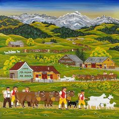 appenzeller art puzzle at DuckDuckGo Color Fantasia, Swiss Switzerland, Swiss Style, Swiss Design, Puzzle Art, Cow Art, Arte Popular, Swiss Alps, Naive Art