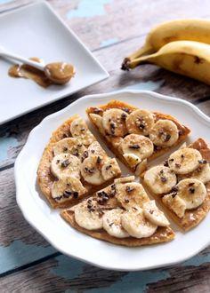 Peanut Butter Banana Breakfast Pizza (Vegan + Gluten-Free) - Hummusapien