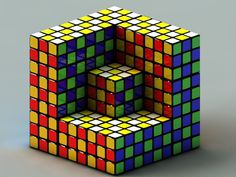 Some Rubik's Cube Art...