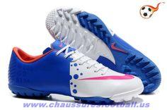 brand new 73d73 8b8f6 Nike Mercurial Vapor VIII TF Blanc Bleu Rouge FT2135 Best Soccer Shoes,  Cheap Football Shoes