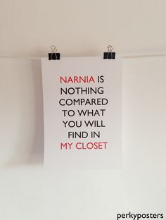 Narnia Poster A3 via PerkyPosters. Click on the image to see more!