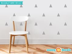Our triangle fabric wall decals are available in 19 color options and give your room an instant makeover. Easy decorating, high quality, amazing value. Shop now!