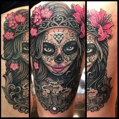 Sugar Skull Mask - Sugar Skull Tattoos - Egodesigns ... This one would be perfect