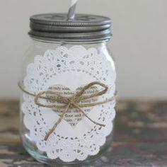 Drinking jar - mason jar with 2 neck Mason Jars, Mason Jar Crafts, Bottle Crafts, Decoration Table, Vases Decor, Gratitude Jar, Jar Art, Creation Deco, Paper Doilies