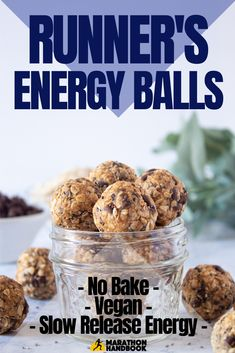 These no-bake vegan runner& energy balls are the perfect pre-run snack to fuel your workout! These no-bake vegan runners energy balls are the perfect pre-run snack to fuel your workout! Paleo Vegan, Vegan Baking, Vegan Snacks, Healthy Baking, Snack Recipes, Vegan Lunches, Vegan Raw, Healthy Treats, Healthy Tips