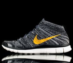Nike Free Flyknit Chukka-Black-University Gold