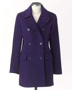 Pea coat in Dark Purple