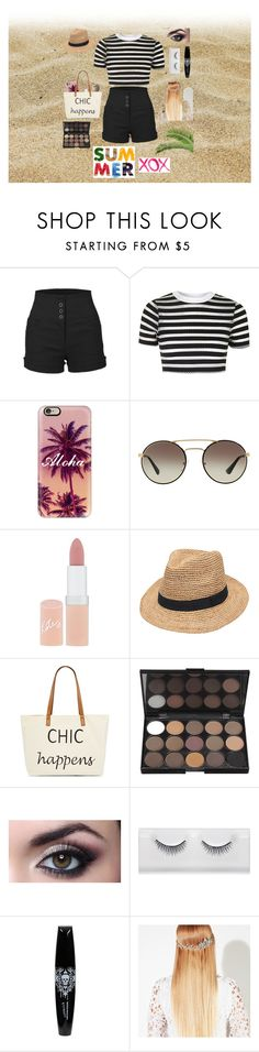 """""""#The Summer"""" by x-goodlookinggirl-x ❤ liked on Polyvore featuring beauty, LE3NO, Topshop, Casetify, Prada, Rimmel, Gottex, Straw Studios, John Lewis and GALA"""