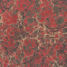 red marbled paper | Berretti Florentine Marbled Paper - Red & Black Veined Marble Pattern
