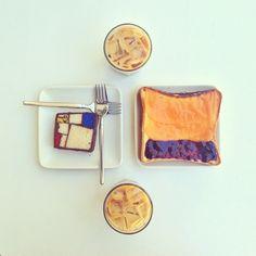 Mondrian Cake + Rothko Toast! On #Heath, no less. // Photo: Sonya Yu.